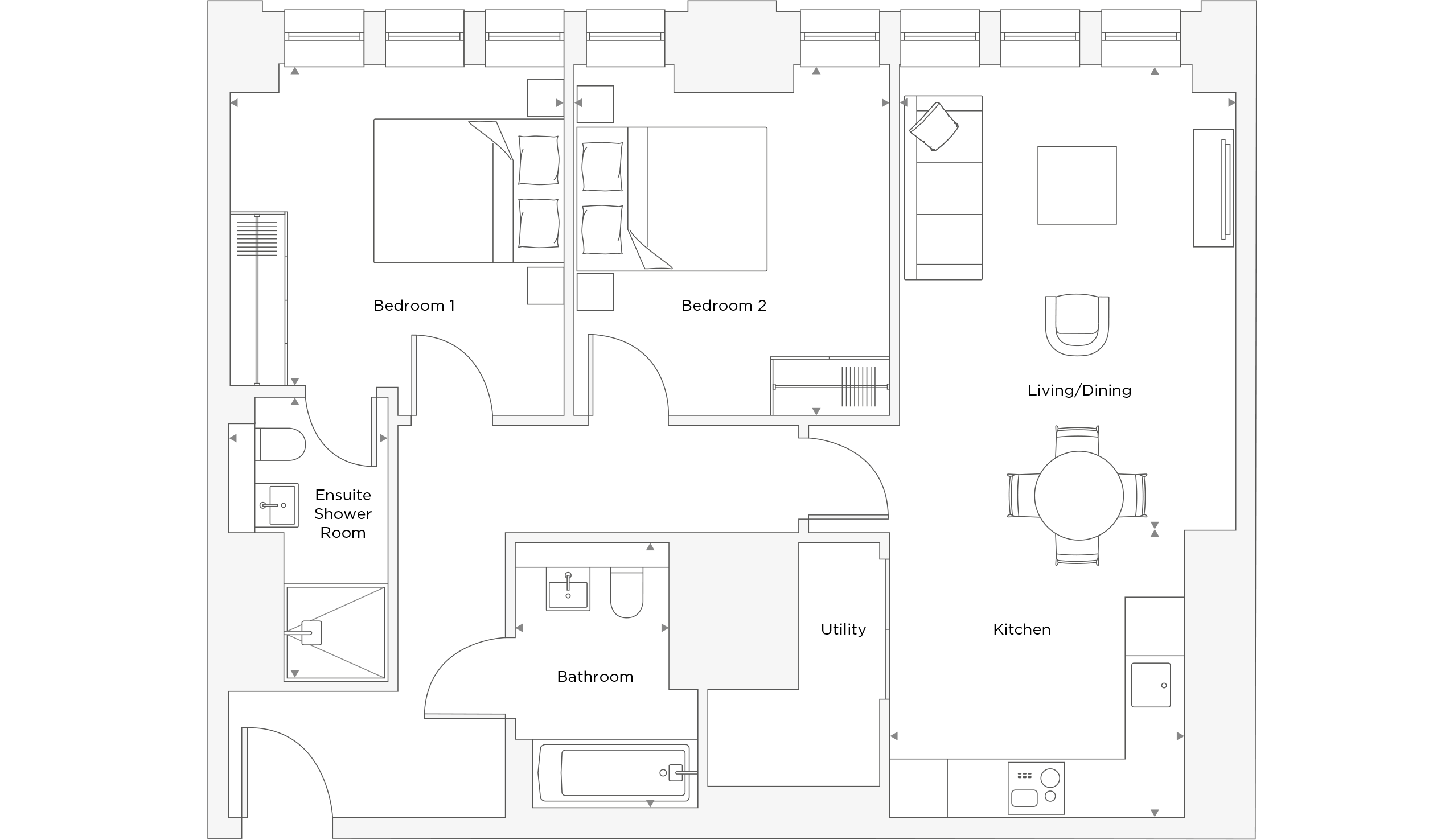 Two Bedroom Apartment A.0.05 Floor Plan