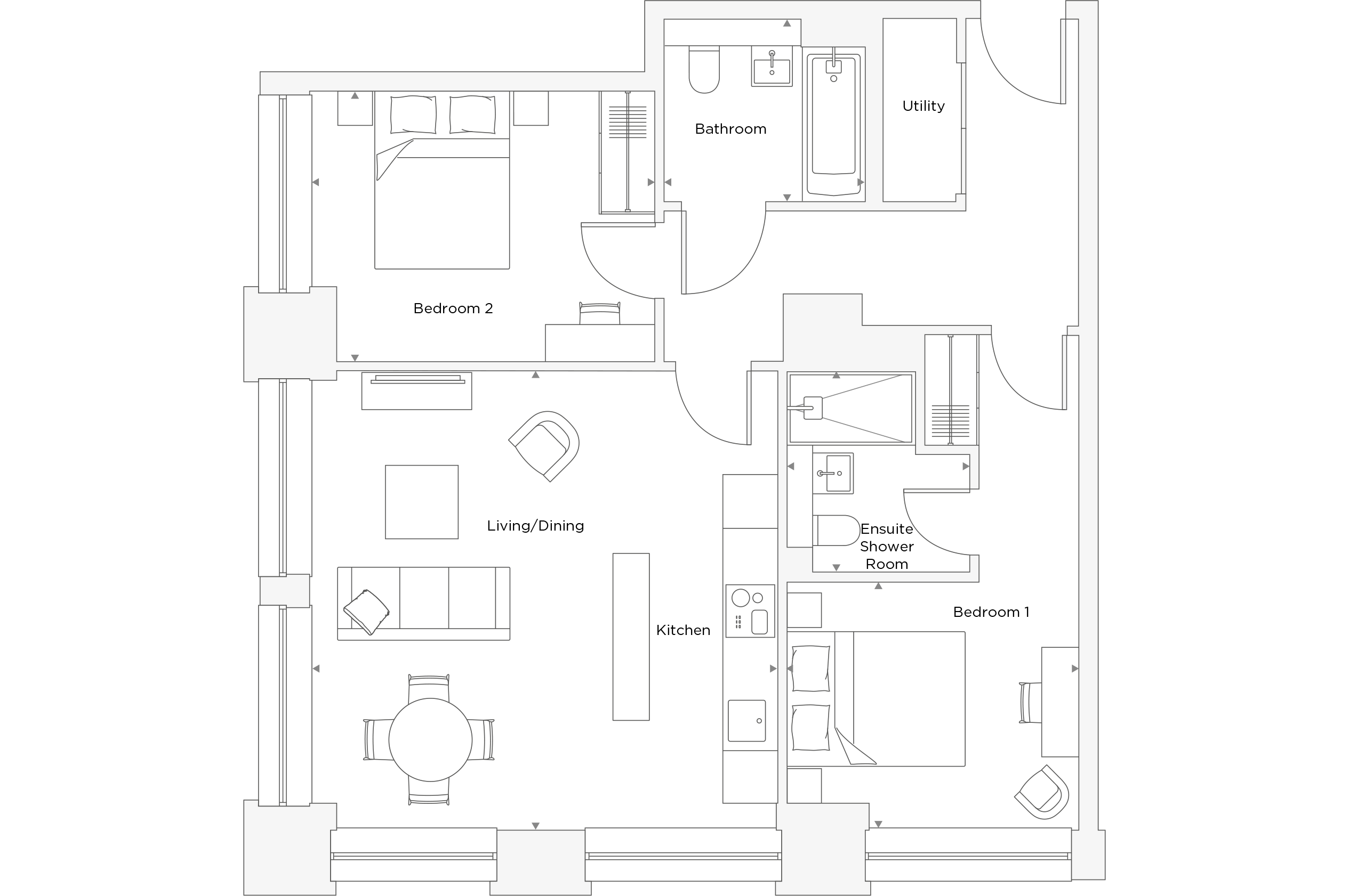 Two Bedroom Apartment A.0.13 Floor Plan