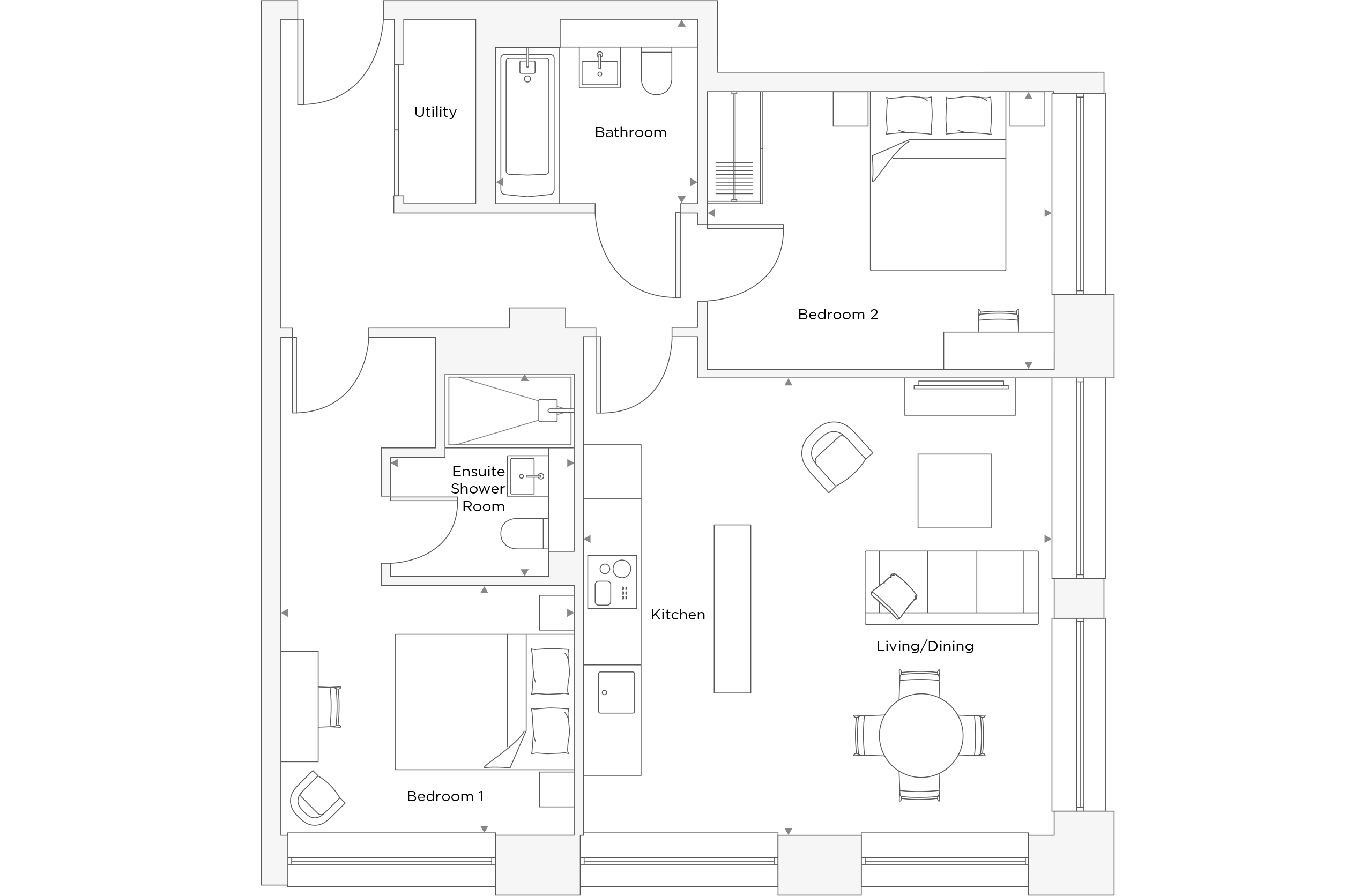 Two Bedroom Apartment A.4.17 Floor Plan